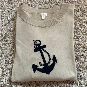 J. Crew factory Women's nautical anchor sweater